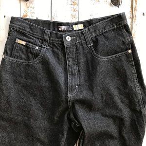 South Pole wide leg black jeans A187